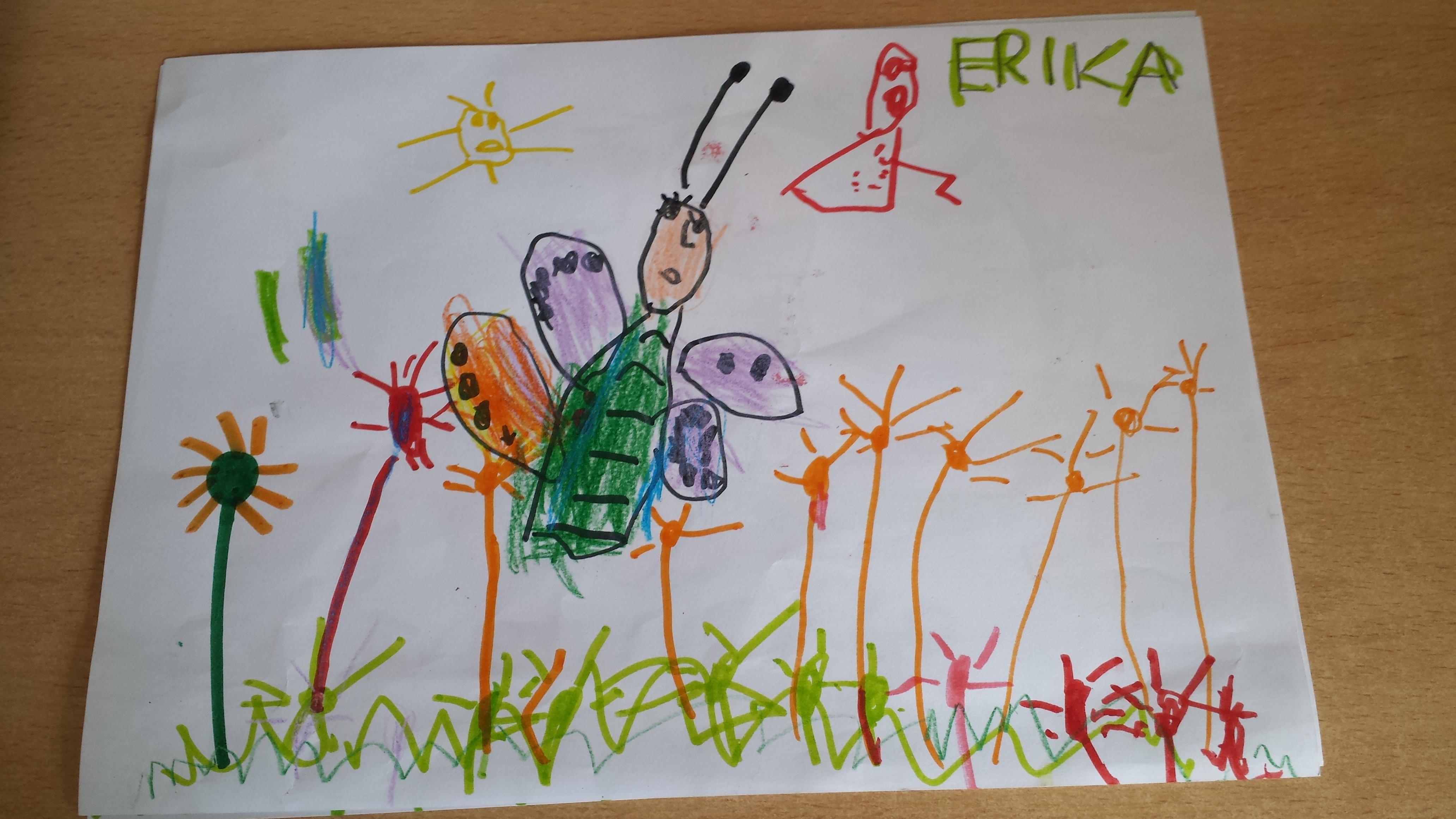 Dibujos De Mariposas Infantiles A Color: Dibujos Infantiles De Mariposas